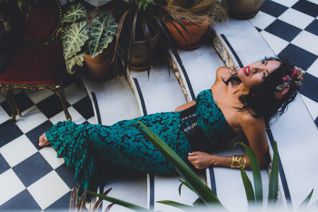 portrait-cuban-woman-with-green-dress